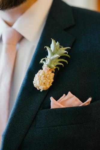 pineapple boutonniere